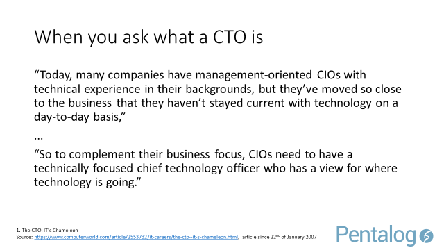 When you ask what a CTO is