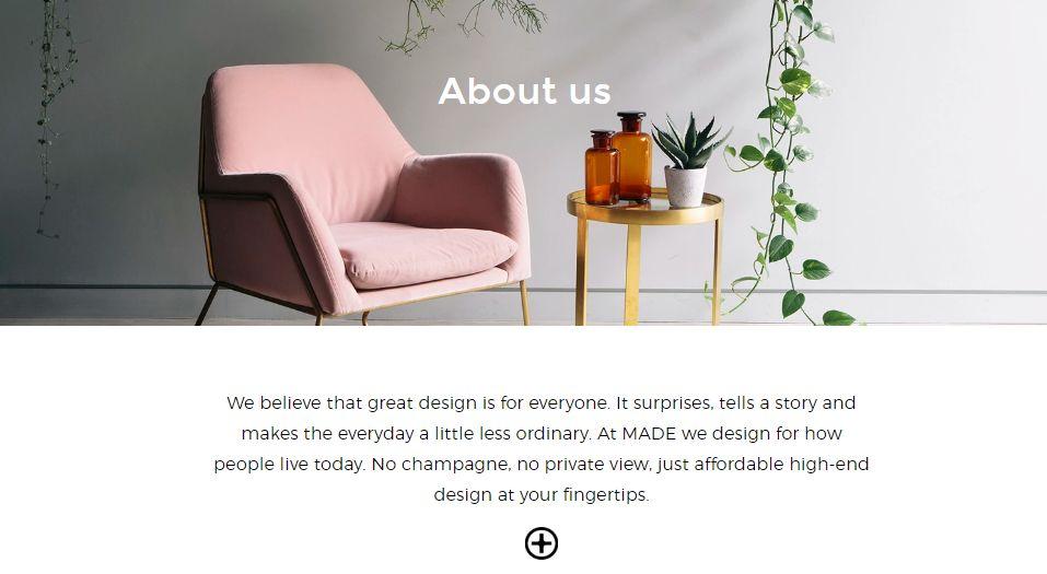 internet retailer - made.com