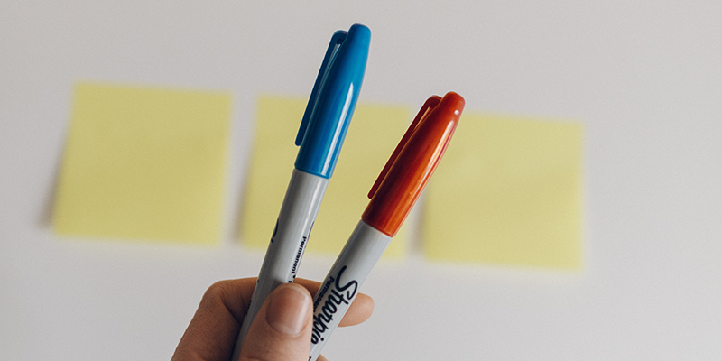Post-it notes for a design sprint