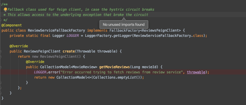 Building Microservices with Spring Boot & Netflix OSS - Hystrix Circuit Breaker option 2
