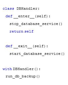 Python code example